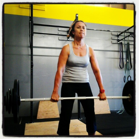 Yolanda C. making that 85lb deadlift look easy!!!  (Yolanda says YOLO!!!)