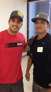 Au'rai!!! Our own Travis A. rubbing elbows with Jason Khalipa at his CrossFit Level 1 Cert!!! Go Trav!!!
