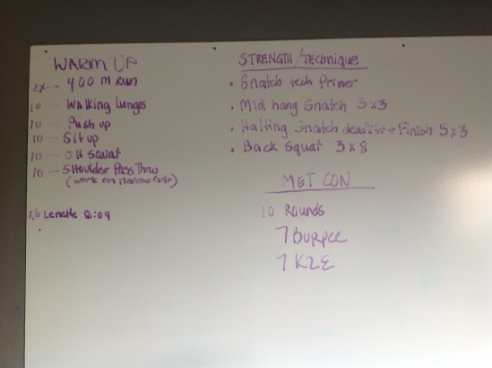 Mondays WOD up on a Sunday I hope I'm not the only one excited about starting a new week!! R U Ready??