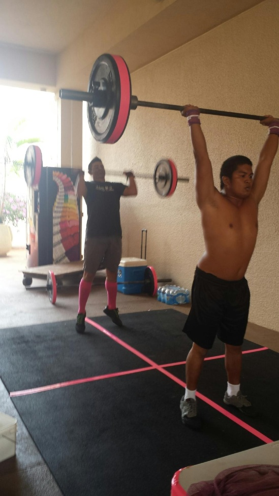 Joseph and Kaioli showing up to do Grace Barbell for boobs 10/26/2014